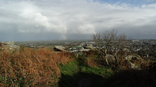 On Carn Brea near Redruth - View over Redruth