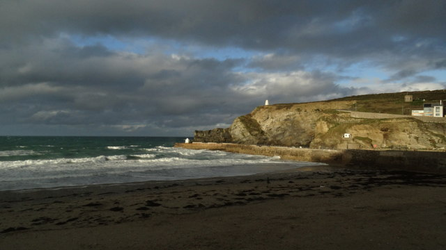 The beach at Portreath