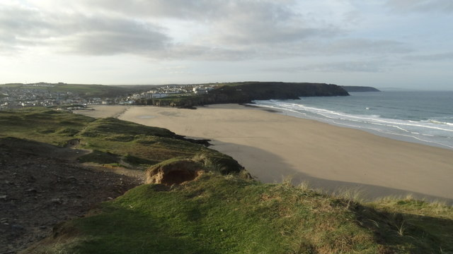 View S to Perran Beach & Perranporth