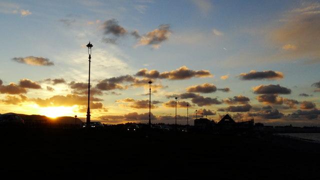 Sunset Llandudno seafront