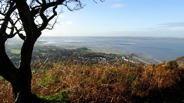 View over Llanfairfechan & Lavan Sands seen from Coast path, E of village