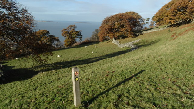 On coast path crossing field above Llanfairfechan