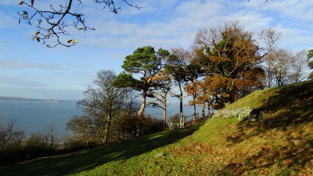 Autumn colours as seen from coast path E of Llanfairfechan