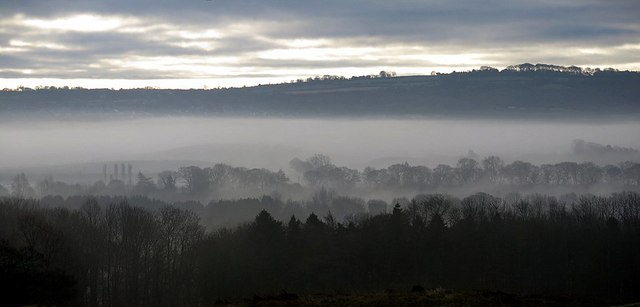 Winter morning view over the Tyne valley