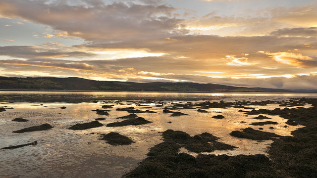 Dusk by Charleston on the Beauly Firth