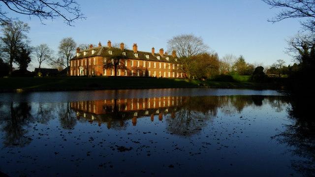 New Hall Farm & pond, Gawsworth