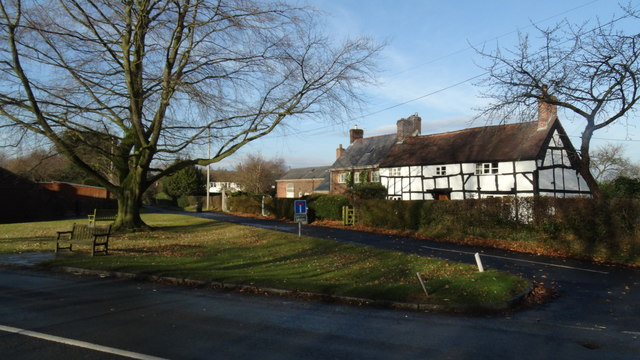 Old cottages at Smithy Green, Lower Peover