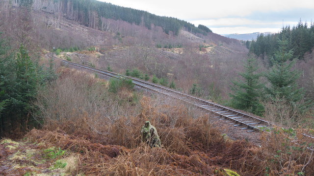 Dingwall to Garve railway line east of Raven Rock