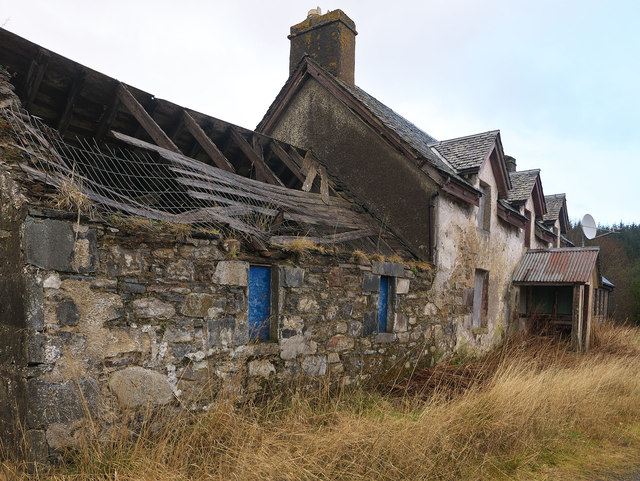 Glensgaich croft house and power station