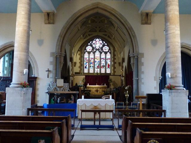 St Nicholas' church, Alcester - interior