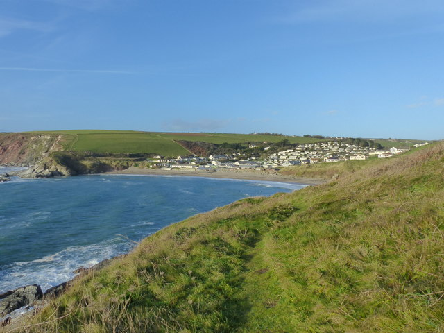 Challaborough and its beach from Warren Point, Bigbury-on-Sea