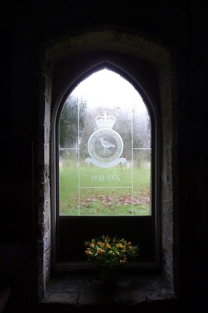 Thorney Island - RAF window in St Nicholas church