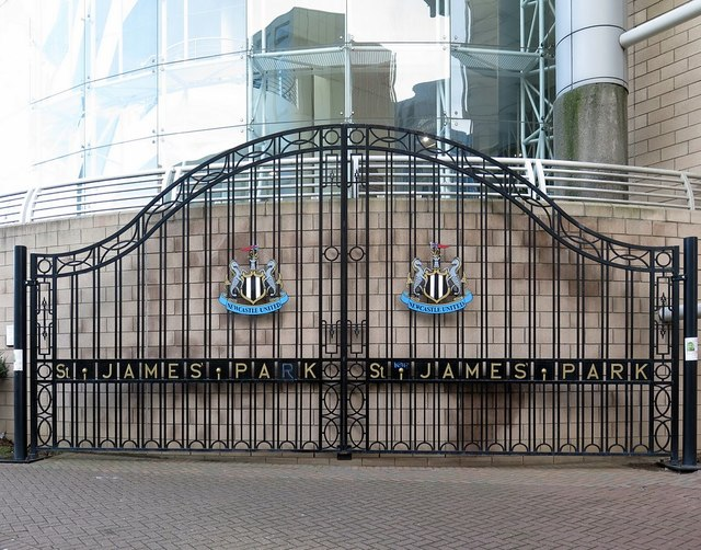 The old gates of St James Park, Barrack Road