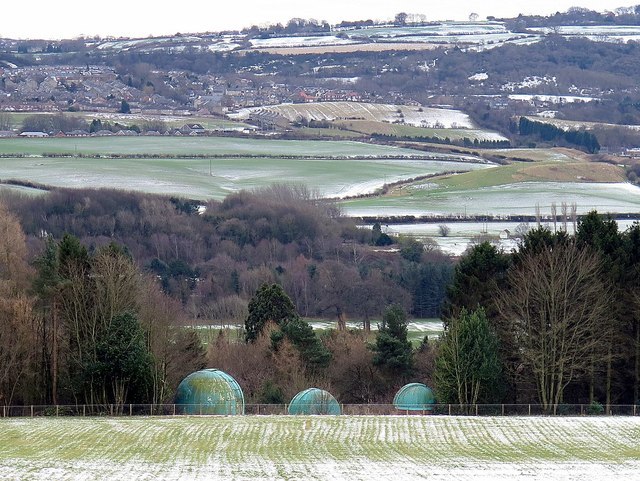 Observatory domes above the Tyne Valley