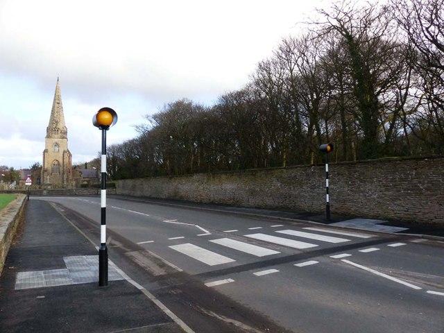 Pedestrian crossing Little Crosby Village