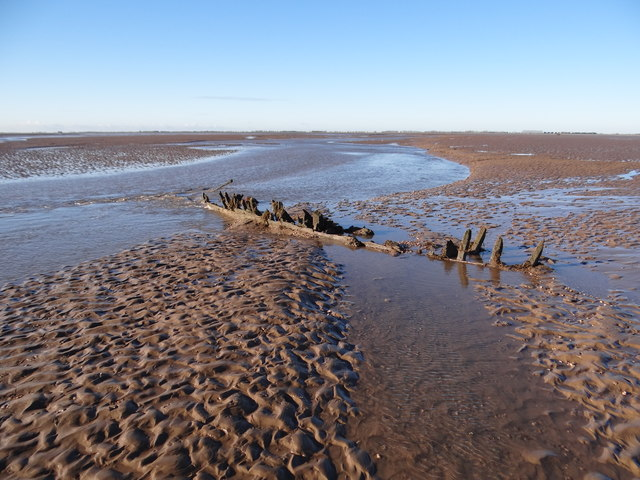 Wreckage on the bank