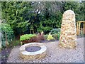 NY9363 : Stone cairn and planter by Oliver Dixon