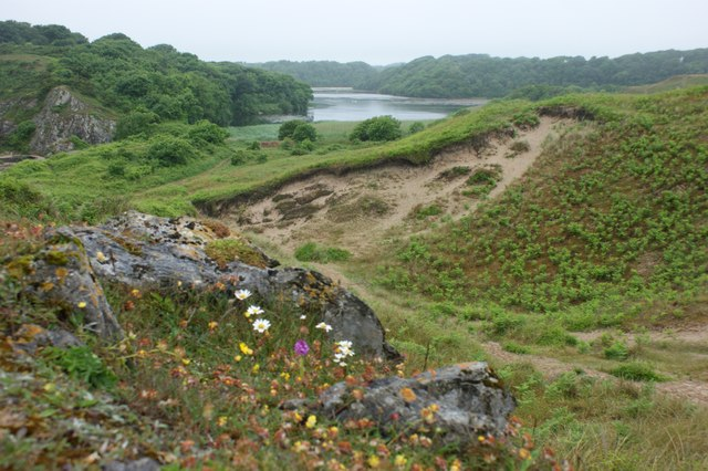 Sand dunes and limestone outcrop, Stackpole Warren