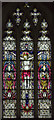 SK9771 : Stained glass window, St Peter in Eastgate, Lincoln by Julian P Guffogg