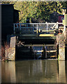 TL2871 : Sluice at Houghton Mill by John Sutton