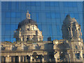 SJ3390 : Reflected glory - the Port of Liverpool Building by Karl and Ali
