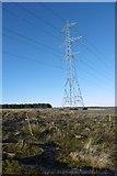 NS5013 : Pylon north of the New Cumnock sub station by Richard Webb
