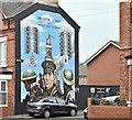 J3574 : Gertrude Street WW1 mural, Belfast (January 2017) by Albert Bridge