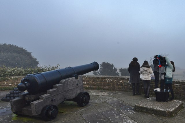 "Walmer Castle: ""Its my turn to use the telescope!"""