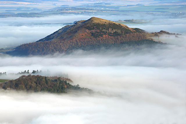 The Black Hill surrounded by mist