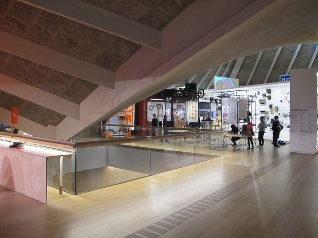 Design Museum permanent exhibition, view of roof