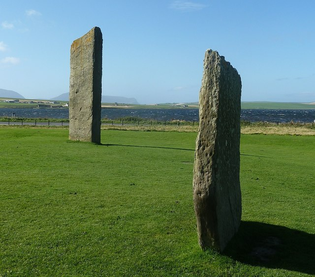 Stones of Stenness and distant Hoy