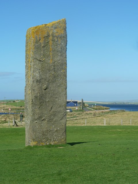 Looking towards the Watch Stone from Stenness