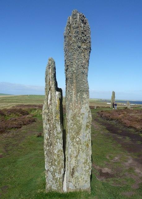 Ring of Brodgar - Split stone