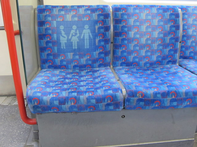 Priority seat and fabric design, London Underground