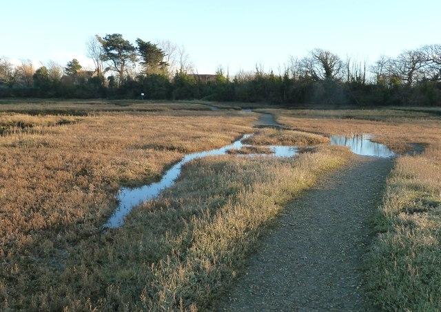 Tidal footpath at Ella Nore