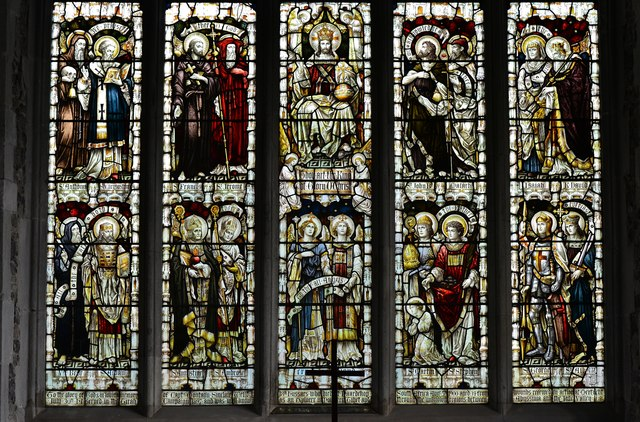 Westham, St. Mary's Church: The bottom part of the east window