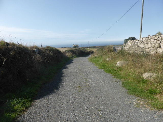 The lane leading to Faraway Cottage