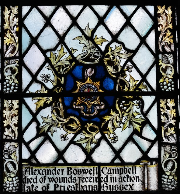 Westham, St. Mary's Church: St. George and St. Hubert window 2