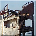 NS3975 : Demolition of brick tower: detail by Lairich Rig