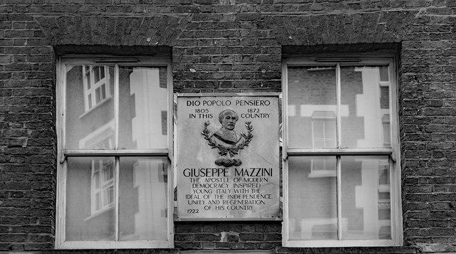 Mazzini commemorative plaque, Laystall Street, Clerkenwell