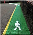TQ7416 : Newly painted pedestrian walkways, Market Square : Week 5