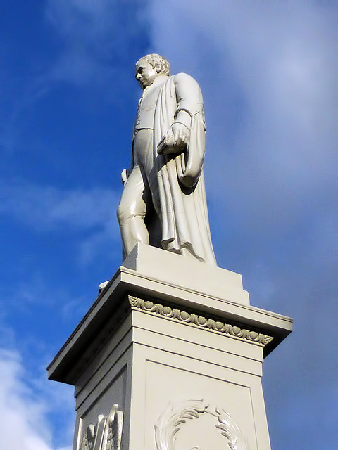 The Sir Walter Scott statue in Selkirk