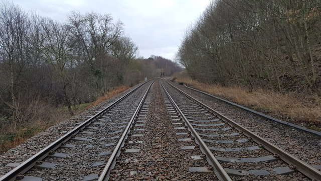 Newcastle to Carlisle railway at Farnley Banks