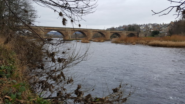 The bridge over the River Tyne at Corbridge