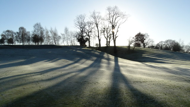 Frost on Alderley Edge Golf Course