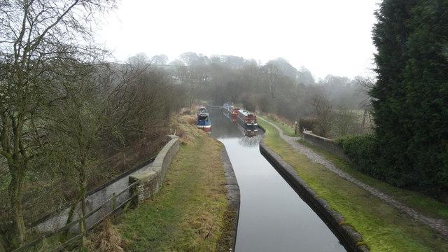 View across Hazelhurst Aqueduct, Leek Canal