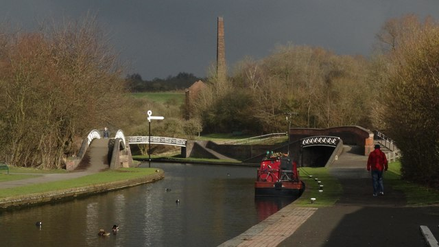 Junction of Dudley No2 Canal & Oldbury No2 Canal at Windmill End