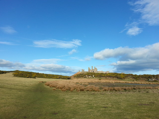The footpath to Dunstanburgh Castle near Cushat Knock
