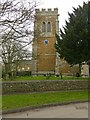 Dist:0.1km<br/>The church tower. The clock was installed in 1920 as a memorial to the dead of the Great War. The roll of honour is inside the church.