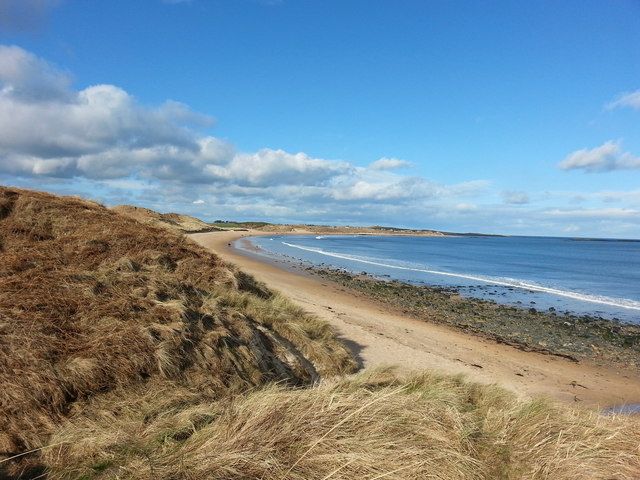 The beach and dunes at Dunstan Steads